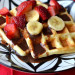 Classic Waffles with Nutella Sauce